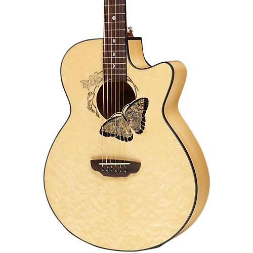 Open Box Luna Guitars Fauna Butterfly Acoustic-Electric Guitar