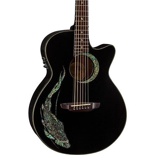 Open Box Luna Guitars Fauna Koi Acoustic-Electric Guitar