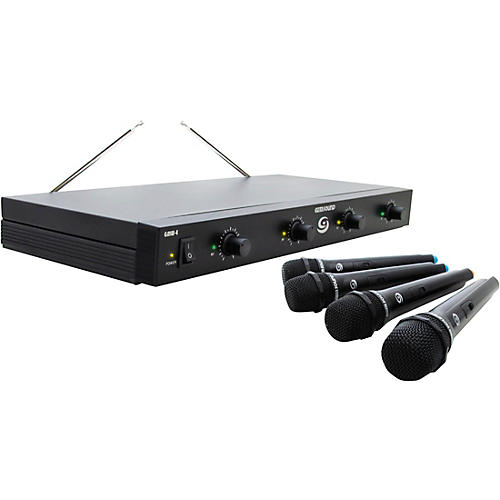 Open Box Gem Sound GMW-4 Quad-Channel Wireless Mic System