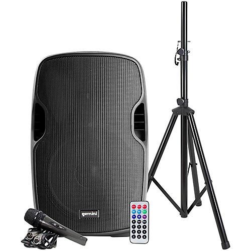 Open Box Gemini AS-12BLU-PK 12 in. Powered Bluetooth Speaker Package