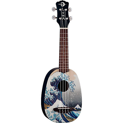 Open Box Luna Guitars Great Wave Soprano Ukulele