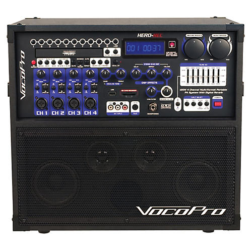Open Box VocoPro HERO-REC Multi-Format Portable P.A. Karaoke System w/ Digital Recorder