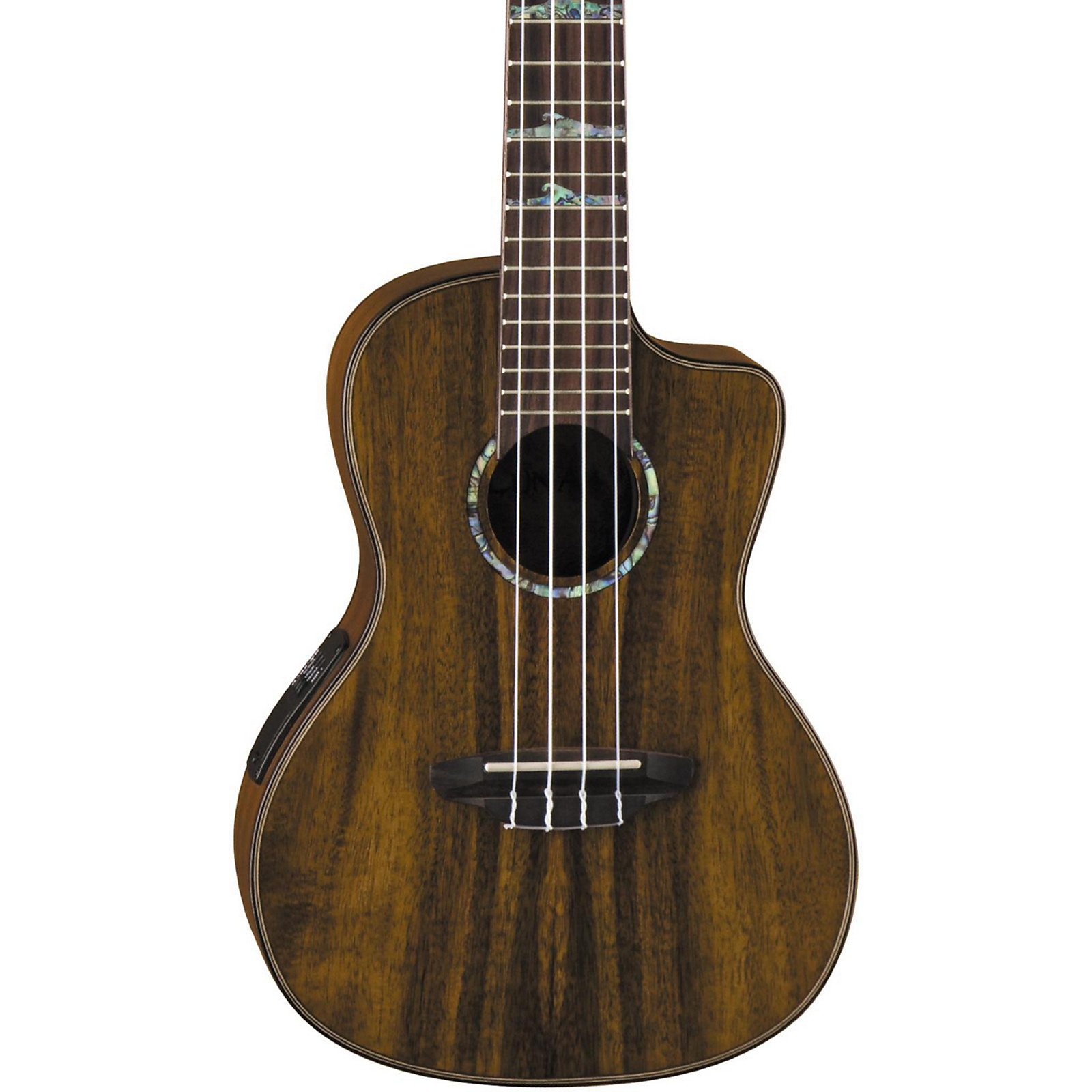 Open Box Luna Guitars High Tide Koa Concert Acoustic-Electric Ukulele