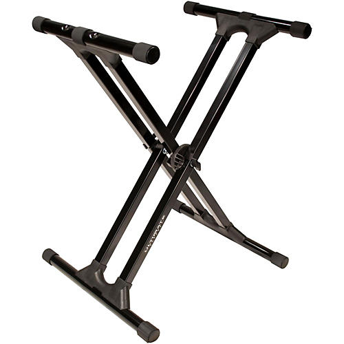 Open Box Ultimate Support IQ-3000 Double-Brace X-Style Keyboard Stand
