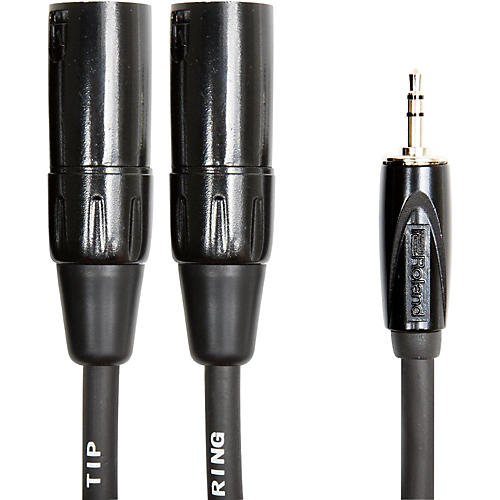 Open Box Roland Interconnect Cable-3.5mm-Dual XLR (Male)