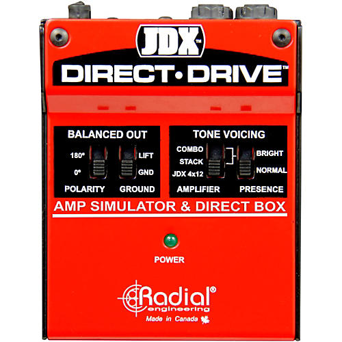 Open Box Radial Engineering JDX Direct-Drive Amp Simulator and DI Box Guitar Effects