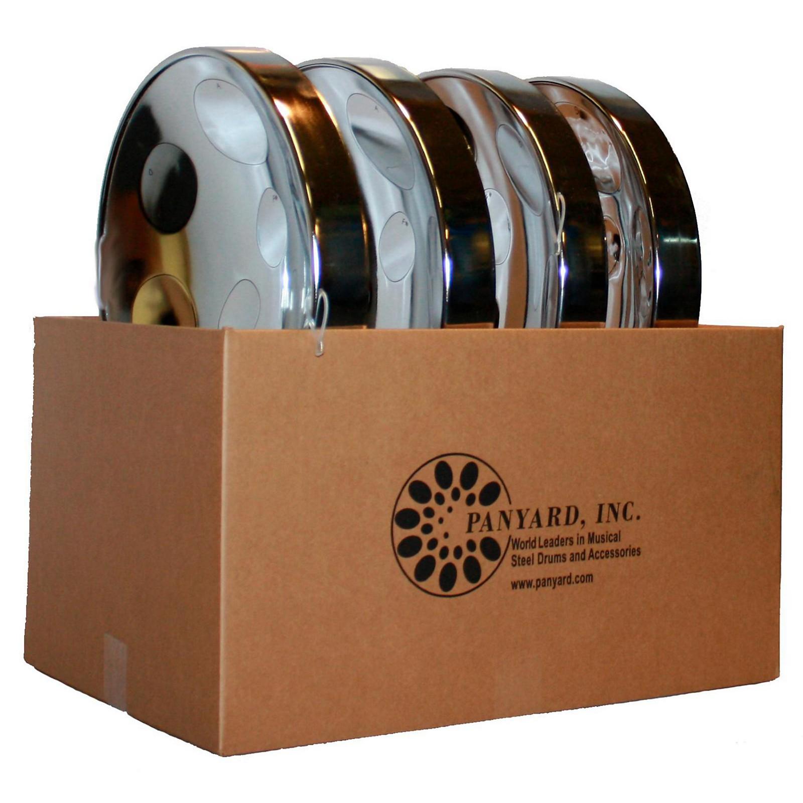 Open Box Panyard Jumbie Jam Educator's Steel Drum 4-Pack with Floor Stands