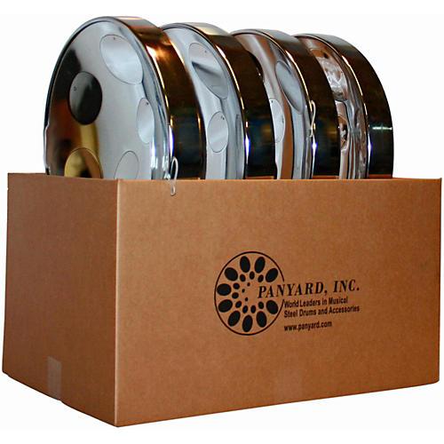 Open Box Panyard Jumbie Jam Educator's Steel Drum 4-Pack with Table Top Stands