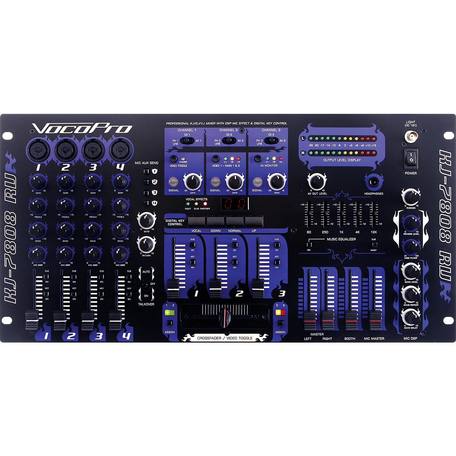 Open Box VocoPro KJ-7808RV Pro DJ and Karaoke Mixer