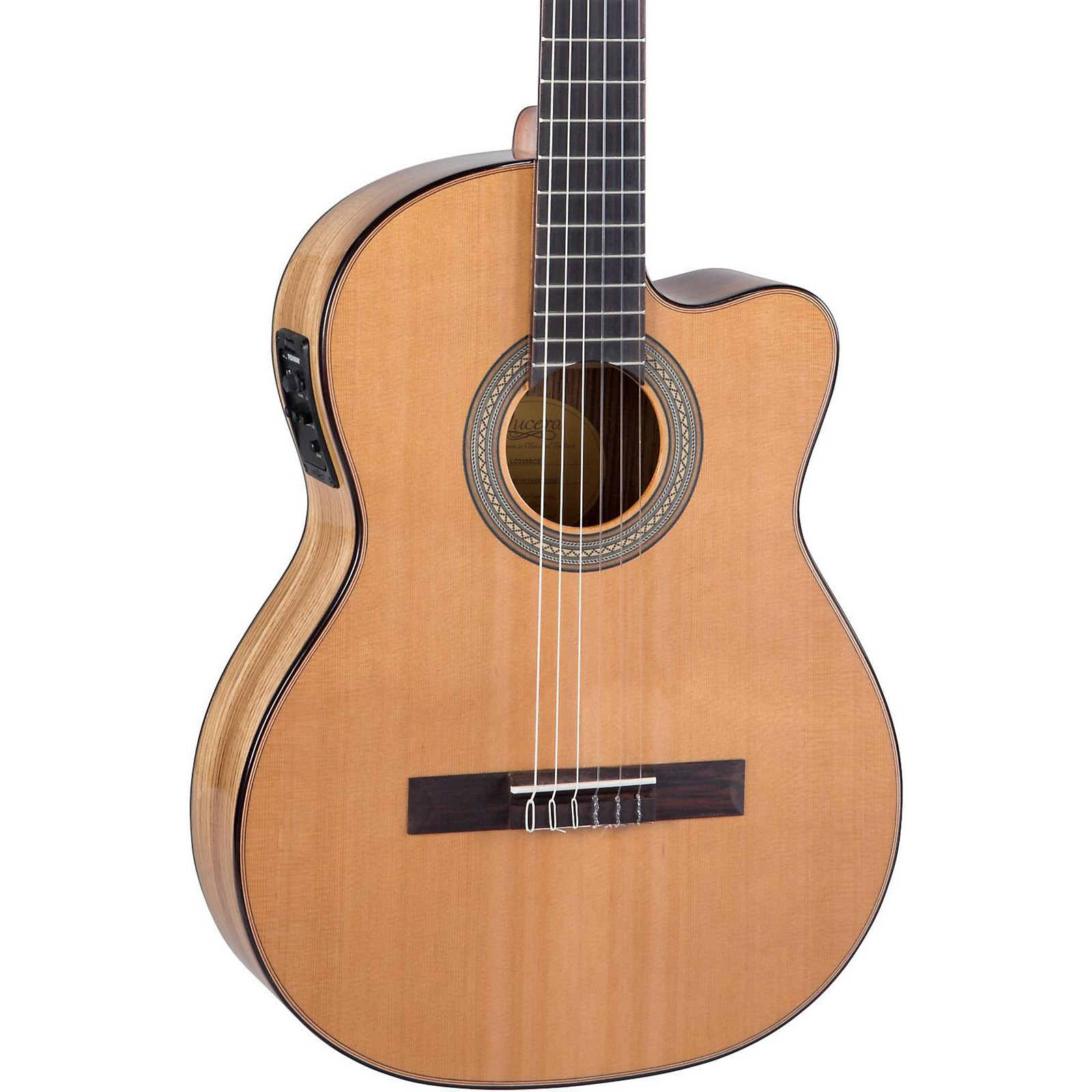 Open Box Lucero LC235SCE Acoustic-Electric Exotic Wood Classical Guitar