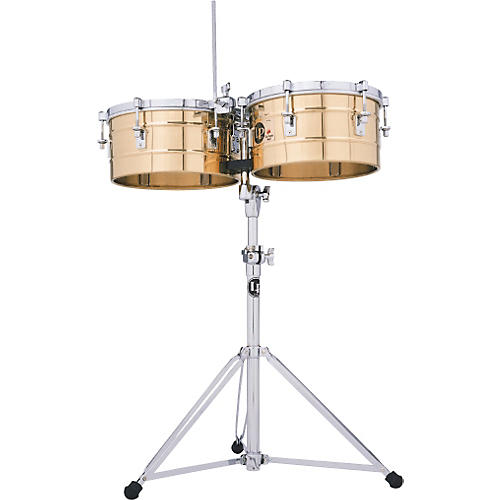 Open Box LP LP256-BZ Tito Puente 13 Inch and 14 Inch Bronze Timbales