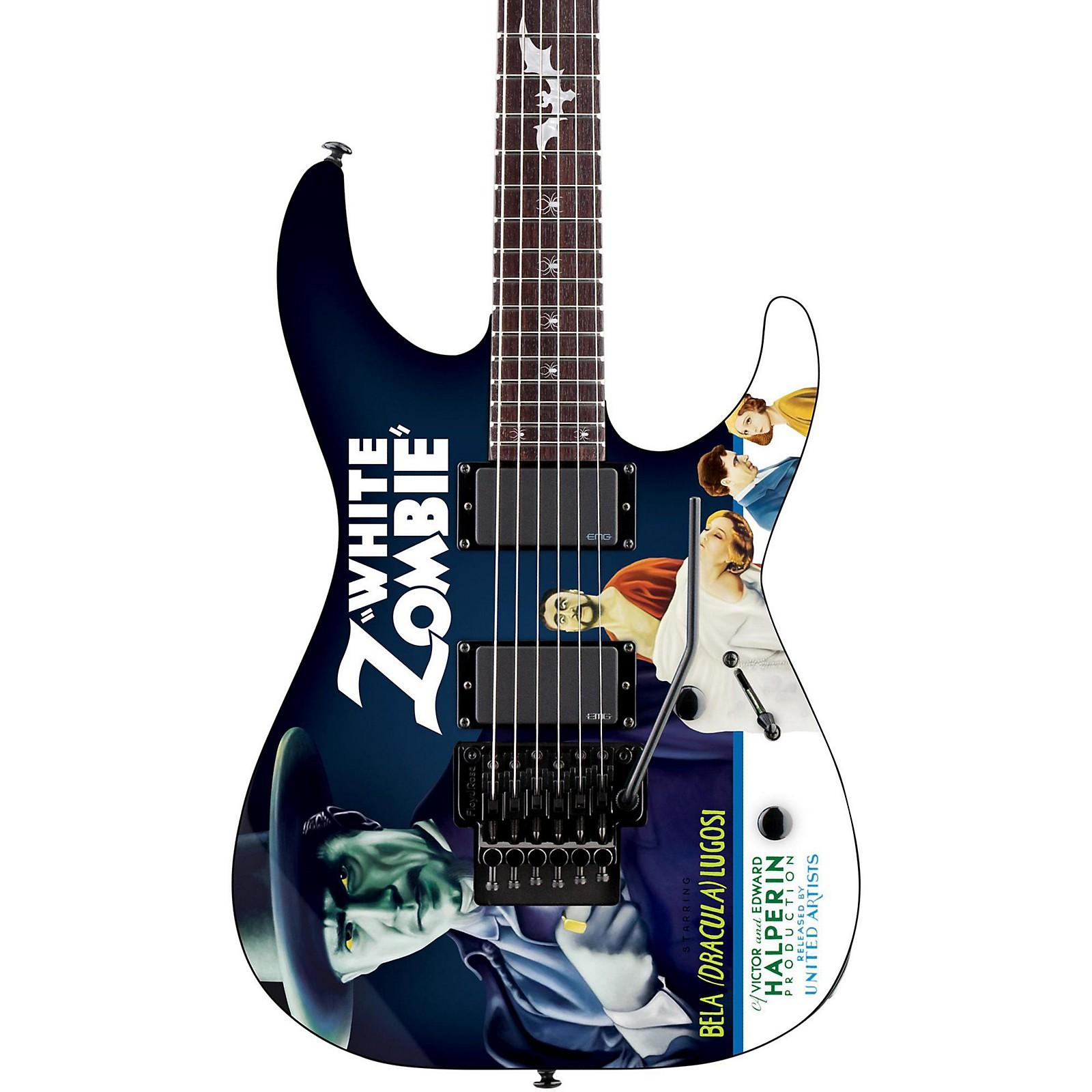Open Box ESP LTD Kirk Hammett Signature White Zombie Electric Guitar