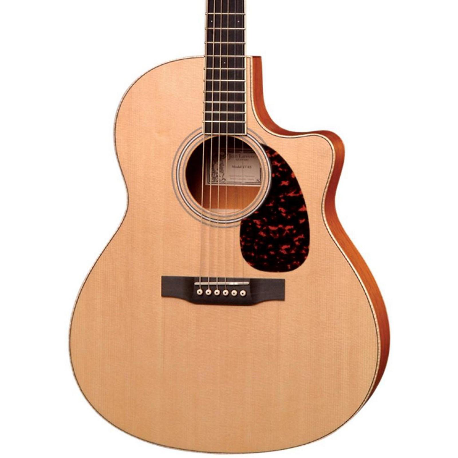 Open Box Larrivee LV-03E Mahogany Standard Series Cutaway Acoustic-Electric Guitar
