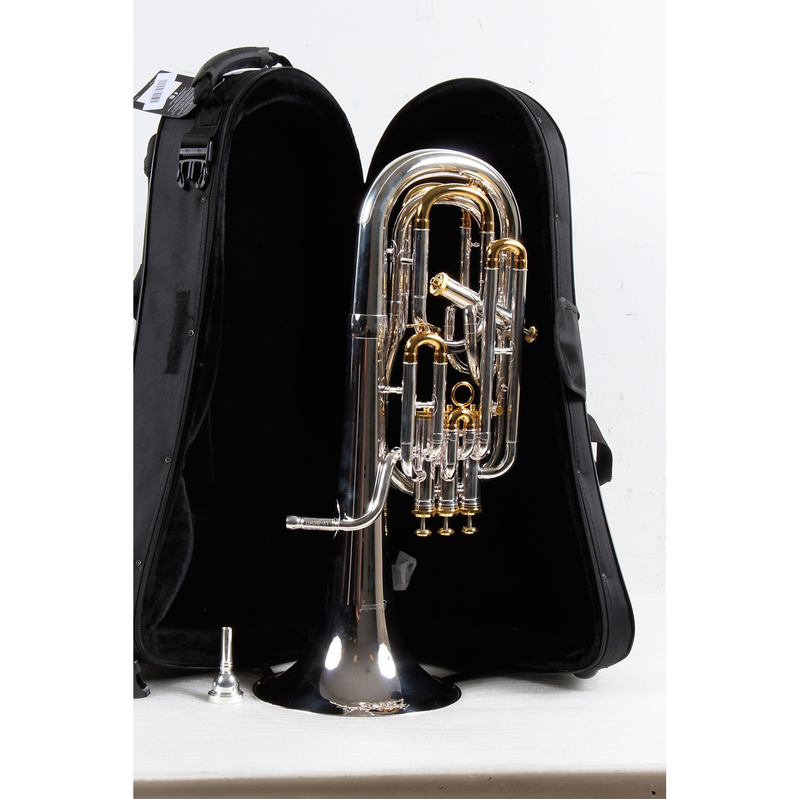 Open Box Levante LV-BH5411 Professional Bb Baritone Horn with 4 Monel Pistons - Gold Trim Kit