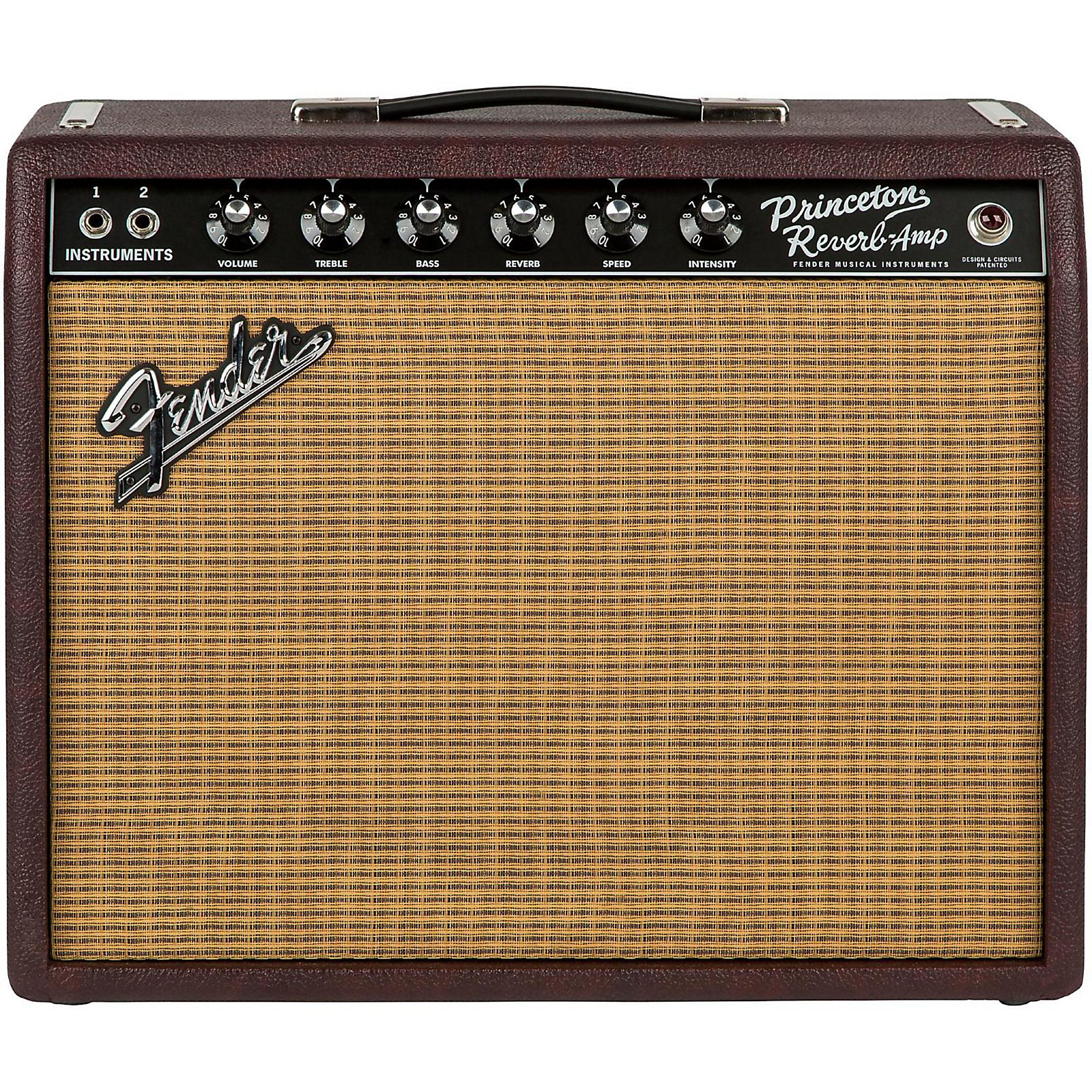 Open Box Fender Limited-Edition '65 Princeton Reverb 12W 1x12 Tube Guitar Combo Amp Bordeaux Reserve