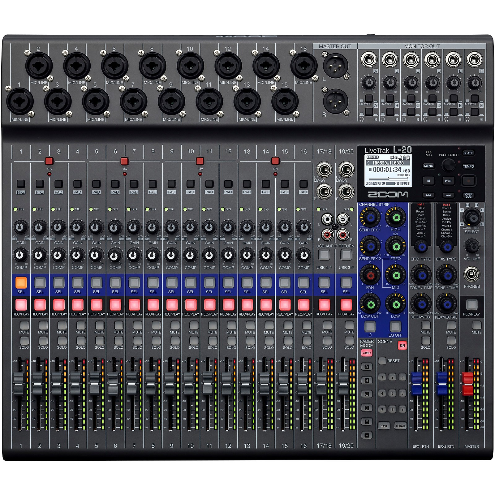 Open Box Zoom LiveTrak L-20 Digital Mixer