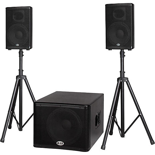 Open Box B-52 MATRIX-1500 1200-Watt 15 Sub & Two 10 2-Way Three Piece Active Speaker System