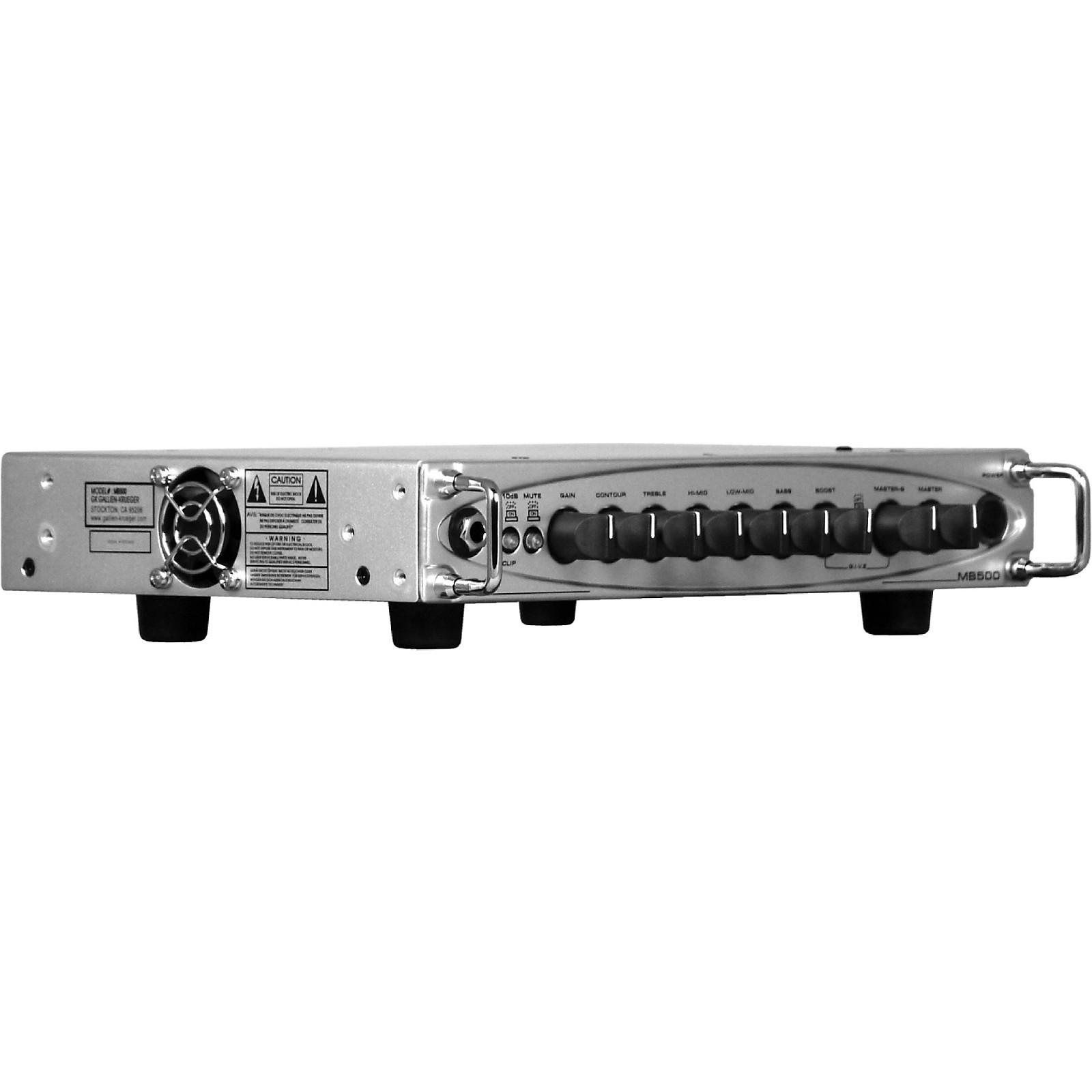Open Box Gallien-Krueger MB500 500W Ultra Light Bass Amp Head