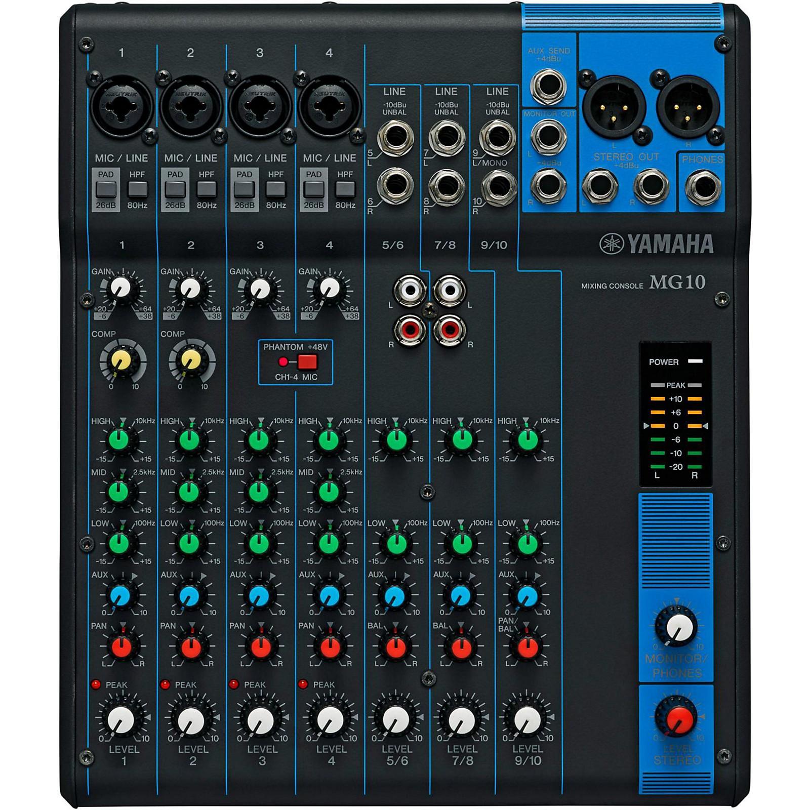 Open Box Yamaha MG10 10-Channel Mixer