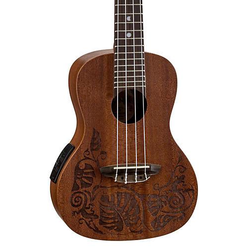 Open Box Luna Guitars MO EL Concert Acoustic-Electric Ukulele