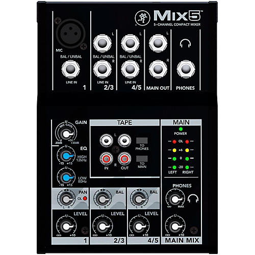 Open Box Mackie Mix5 5-Channel Compact Mixer