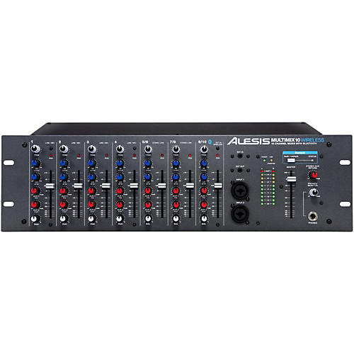 Open Box Alesis MultiMix 10 Wireless 10-Channel Rackmount Mixer with Bluetooth Wireless