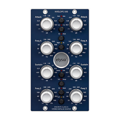 Open Box Elysia Nvelope 500 Series Stereo Impulse Shaper with Dual EQ Capabilities