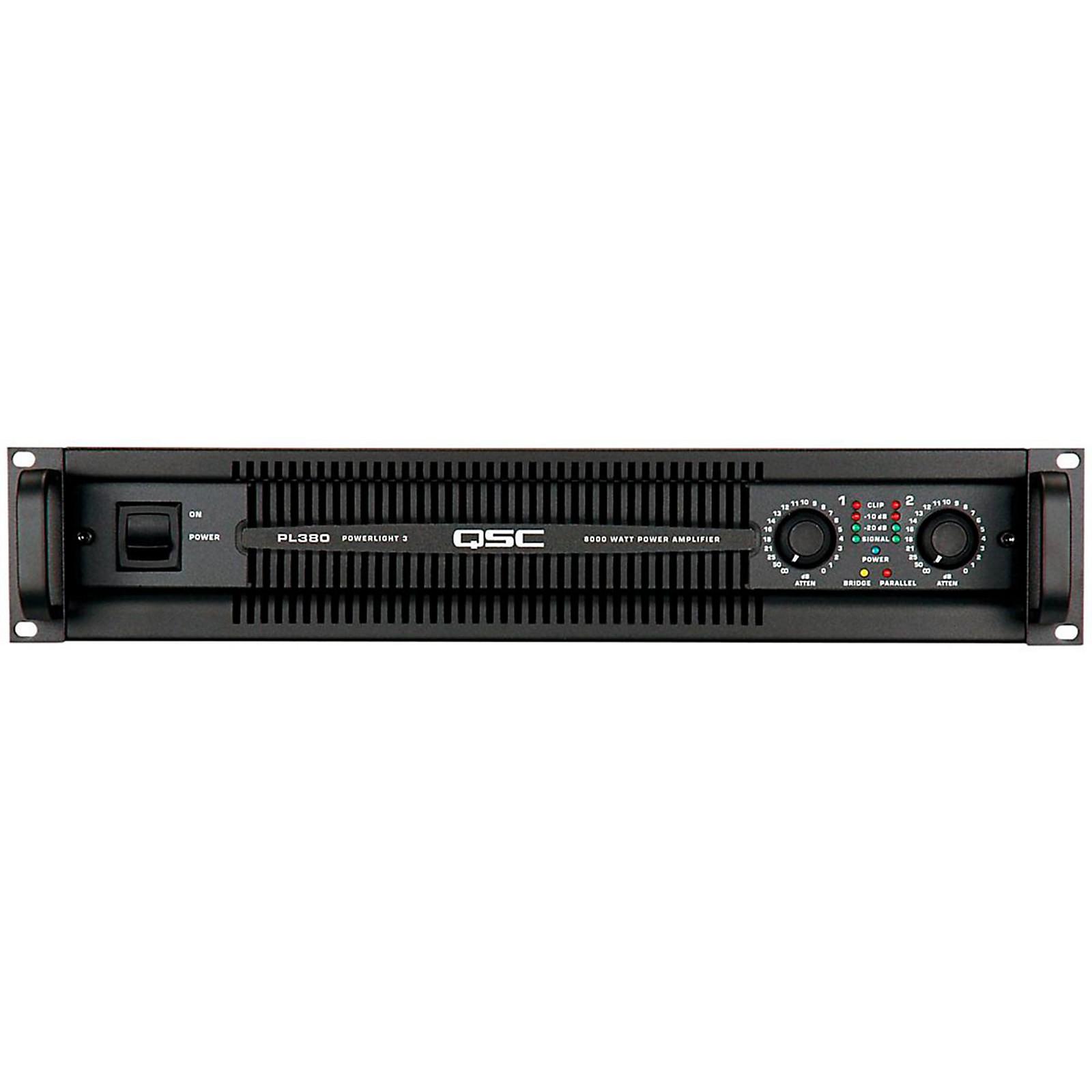 Open Box QSC PL380 PowerLite Amplifier