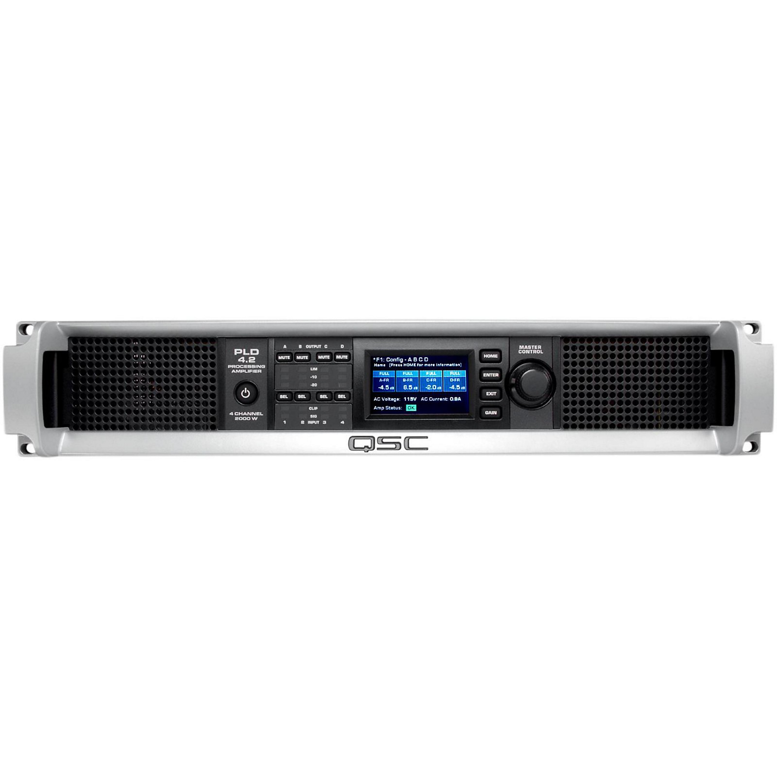 Open Box QSC PLD4.2 Multi-Channel System Processing Amplifier
