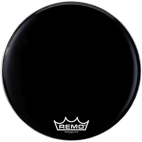 Open Box Remo Powermax Ebony Marching Bass Head