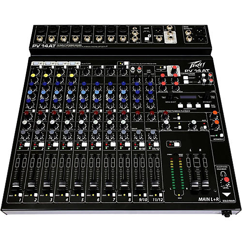 Open Box Peavey PV 14 AT Mixer with Autotune