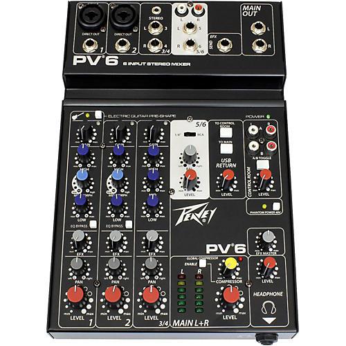 Open Box Peavey PV 6 Mixer