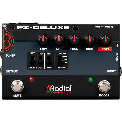 Open Box Radial Engineering PZ-Deluxe Acoustic Preamp / Direct Box Guitar Pedal