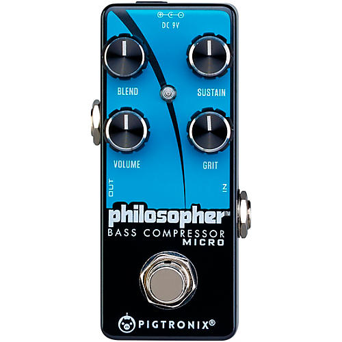 Open Box Pigtronix Philosopher Bass Compressor Micro Effects Pedal