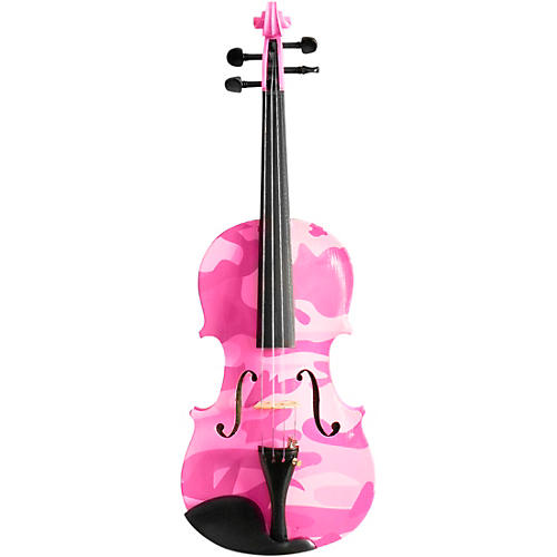 Open Box Rozanna's Violins Pink Camouflage Series Violin Outfit