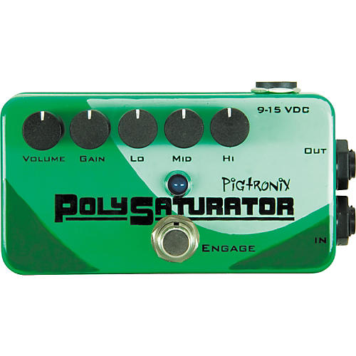 Open Box Pigtronix PolySaturator Distortion Guitar Effects Pedal