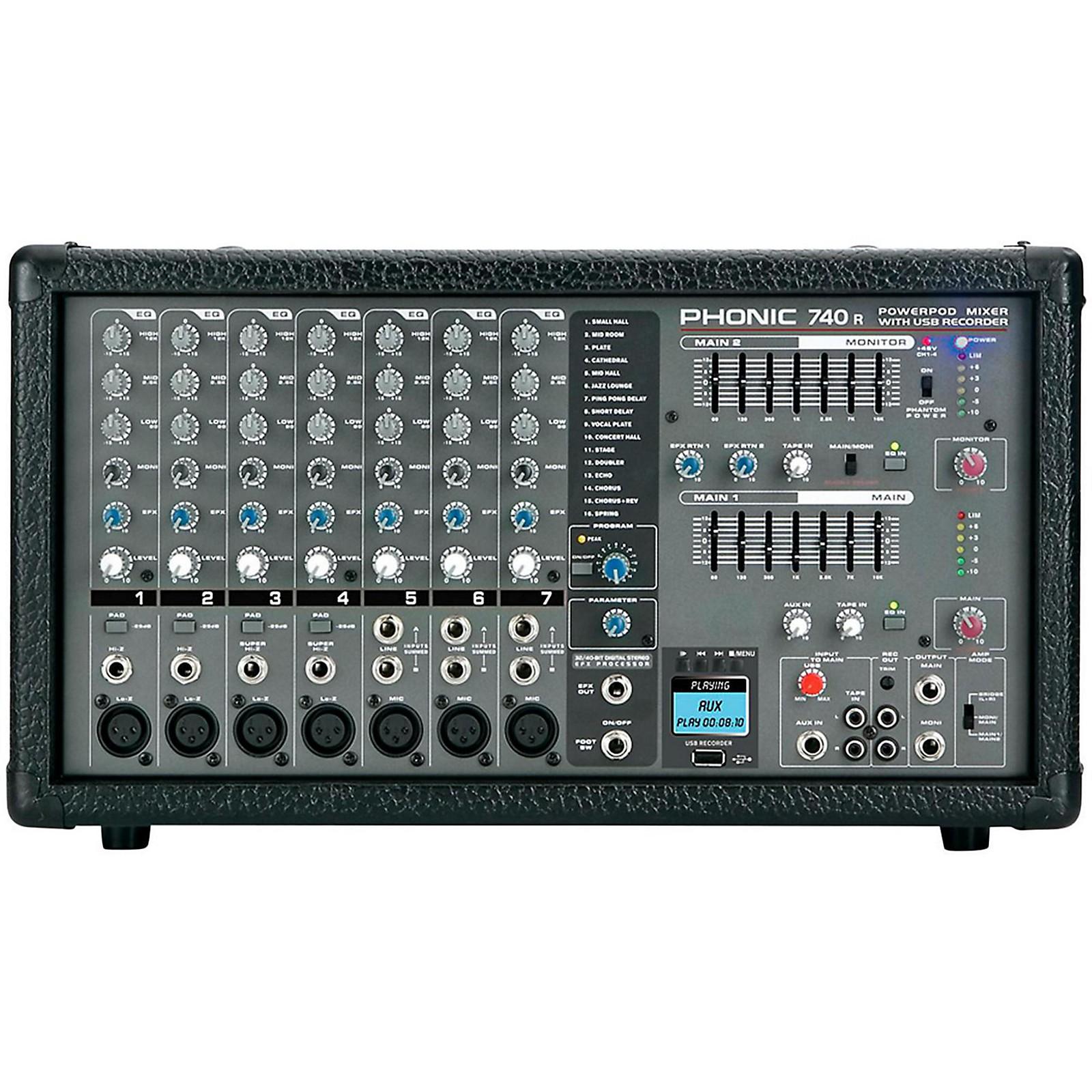 Open Box Phonic Powerpod 740 R Powered Mixer