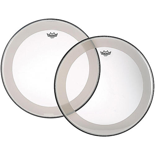 Open Box Remo Powerstroke 4 Clear Batter Bass Drum Head with Impact Patch
