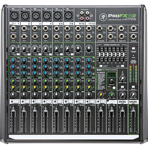 Open Box Mackie ProFX12v2 12-Channel Professional FX Mixer with USB
