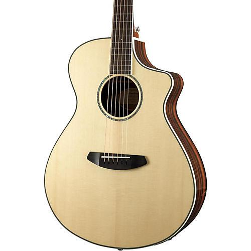 Open Box Breedlove Pursuit Exotic Concert CE Engelmann Spruce - Striped Ebony Acoustic-Electric Guitar