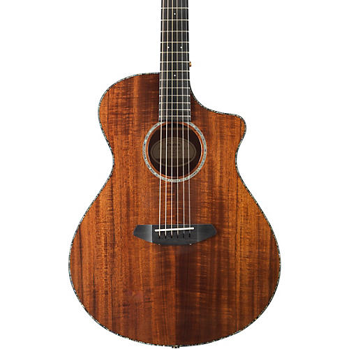 Open Box Breedlove Pursuit Exotic Concert with Koa Top Acoustic-Electric Guitar