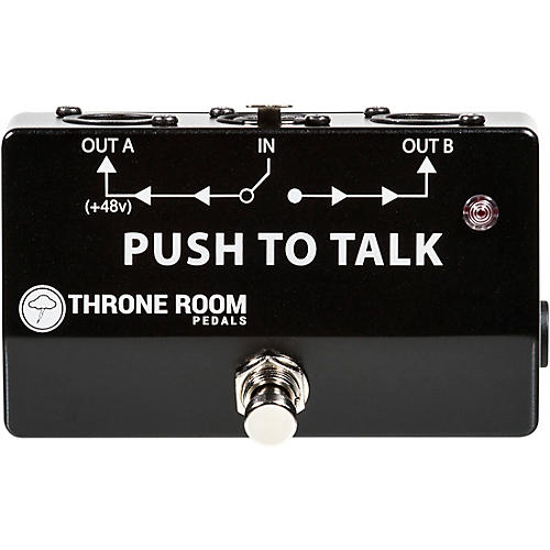 Open Box Throne Room Pedals Push To Talk Box Momentary XLR A/B Switcher