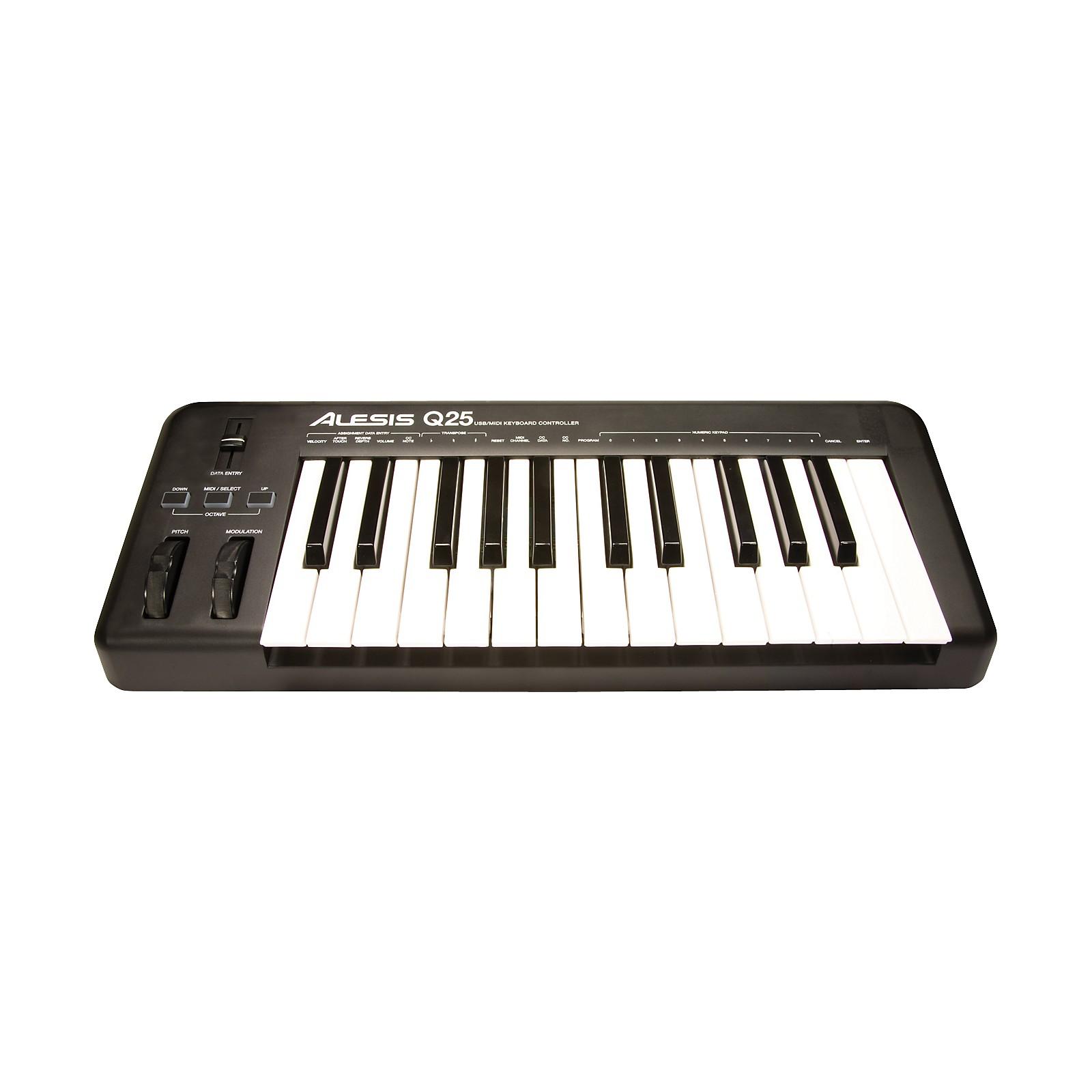 Open Box Alesis Q25 25-Key Keyboard MIDI Controller