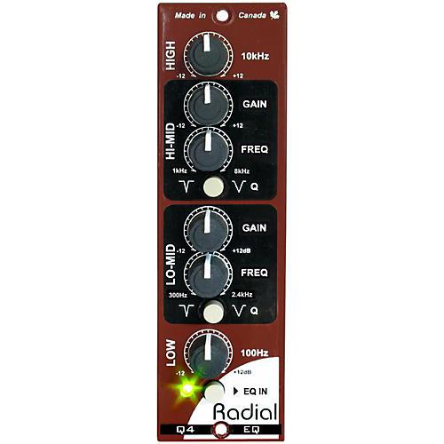 Open Box Radial Engineering Q4 Four Band Semi-Parametric EQ