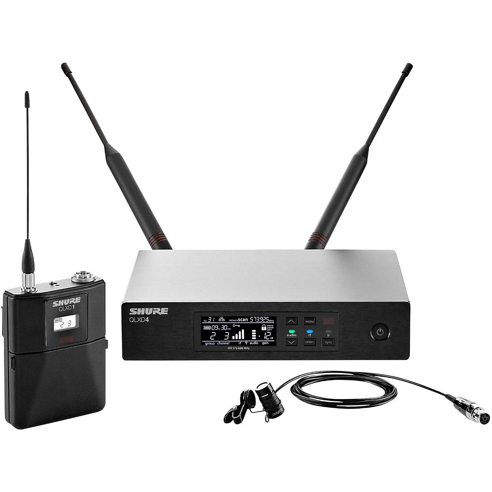 Open Box Shure QLX-D Digital Wireless System with WL184 Supercardioid Lavalier