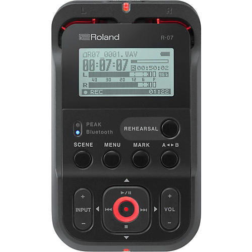 Open Box Roland R-07 High-Resolution Audio Recorder with Bluetooth  in Black