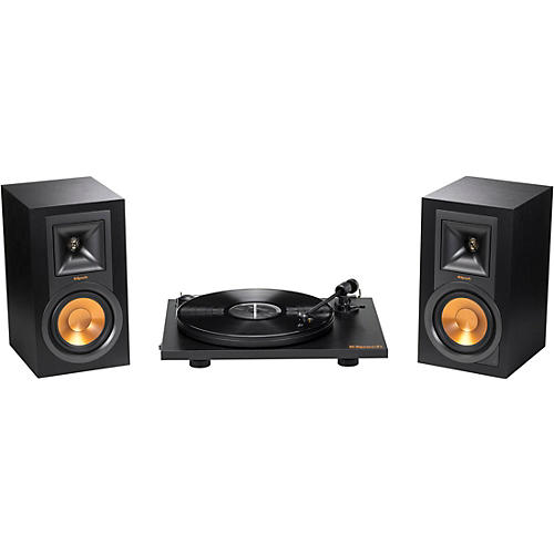 Open Box Klipsch R-15 Powered Monitors + Pro-Ject Primary Turntable Bundle