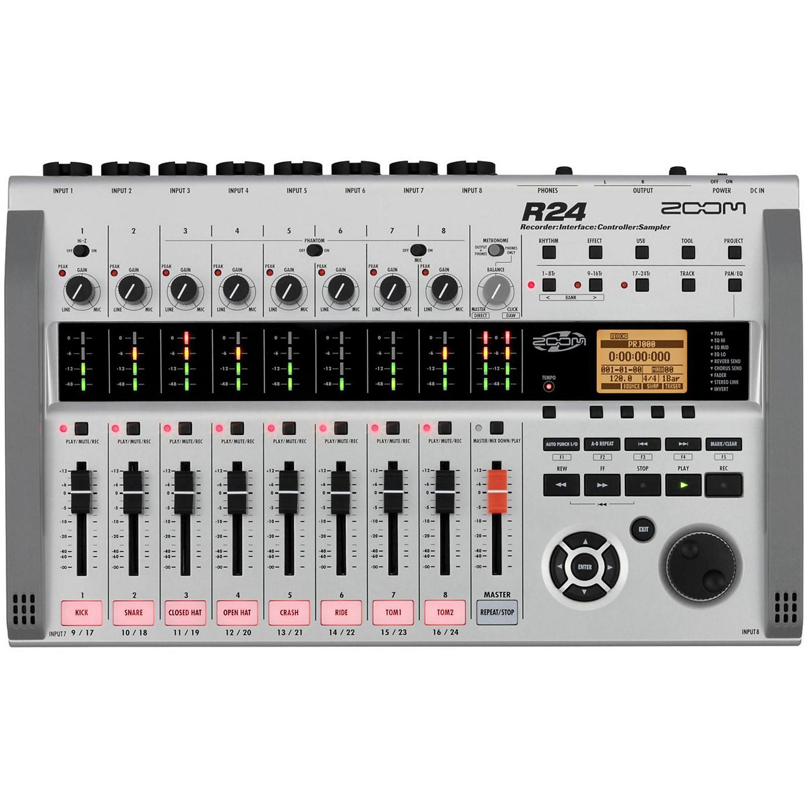 Open Box Zoom R24 Multitrack Recorder/Interface/Controller/Sampler