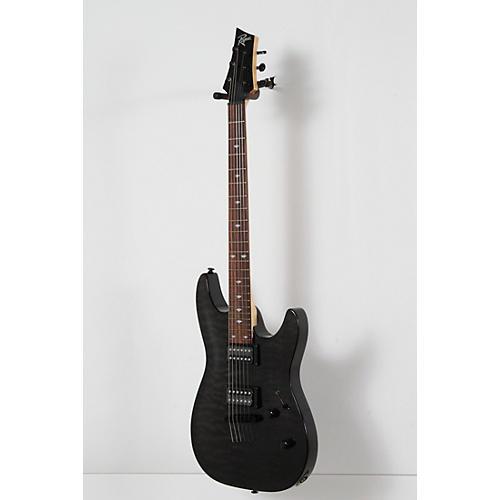 Open Box Rogue REL350 String-Thru Body Quilt Top Electric Guitar