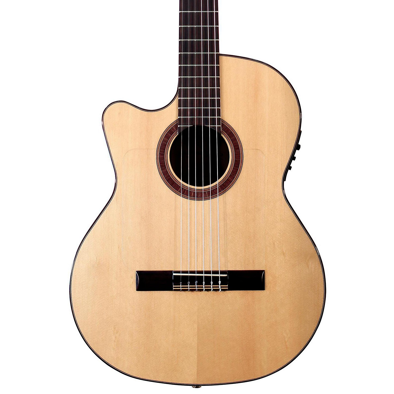 Open Box Kremona Rosa Luna Left-Handed Flamenco Blanca Guitar
